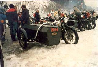 BSA with coffin model sidecar